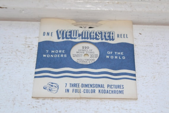 Vintage Viewmaster Reel Homes Of Movie Stars In Hollywood