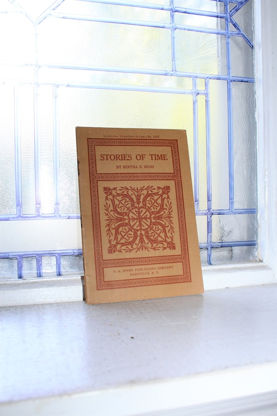 Antique Book Stories of Time 1910s Brown Art Nouveau Cover