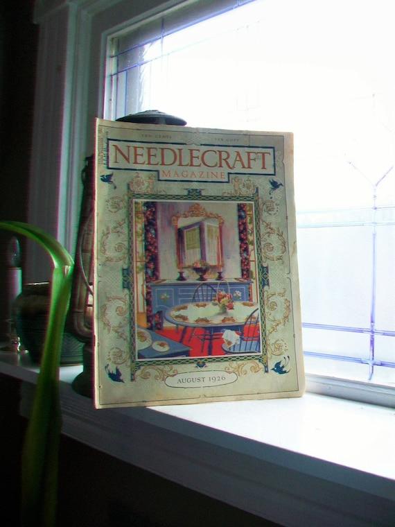 1926 Needlecraft Magazine August Issue Vintage 1920s Sewing