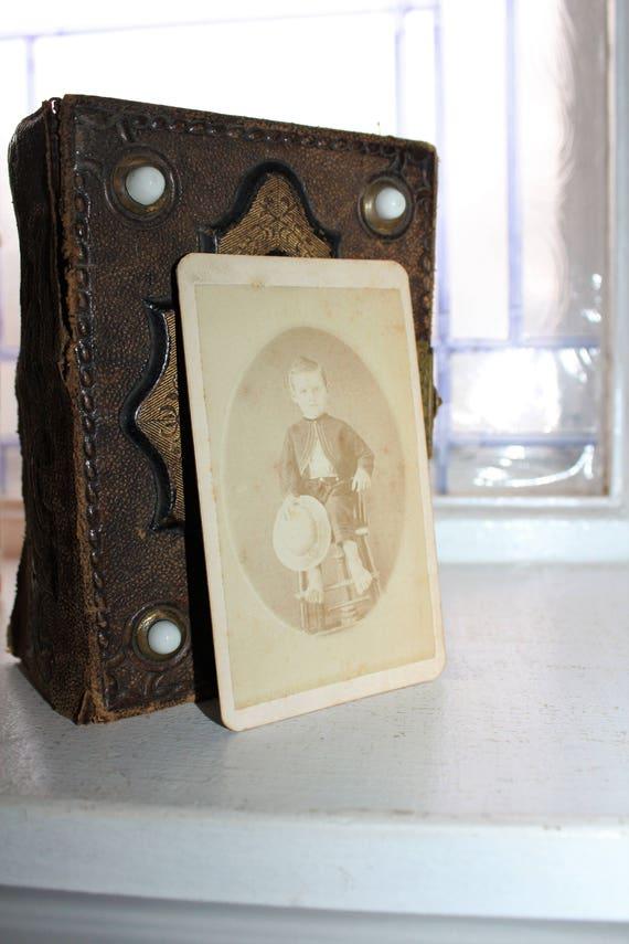 Vintage Carte De Visite Photograph Victorian Boy 1800s