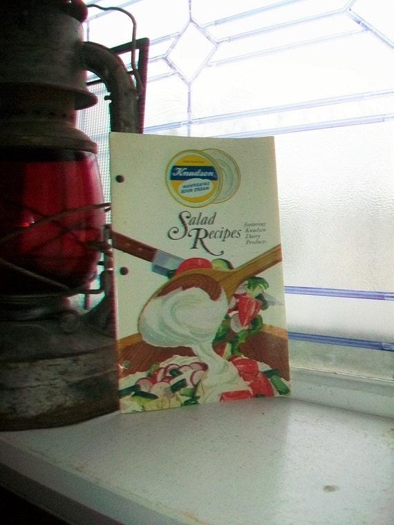 Vintage Cookbook Knudsen Salad Recipes by Knudsen Dairy Products 1965