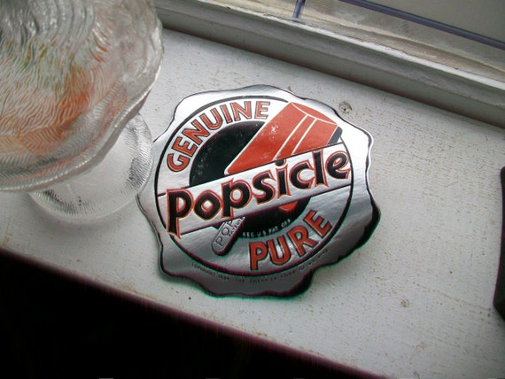 Vintage 1930s Popsicle Sign Decal Sticker 6 Inch