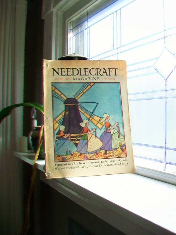 1929 Needlecraft Magazine January Issue Vintage 1920s Sewing