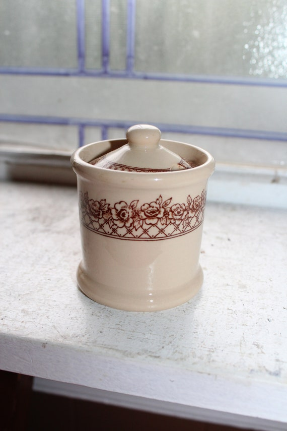Vintage Jam Jelly Jar Mayer China Restaurant Ware Rosemont Mayan Ware