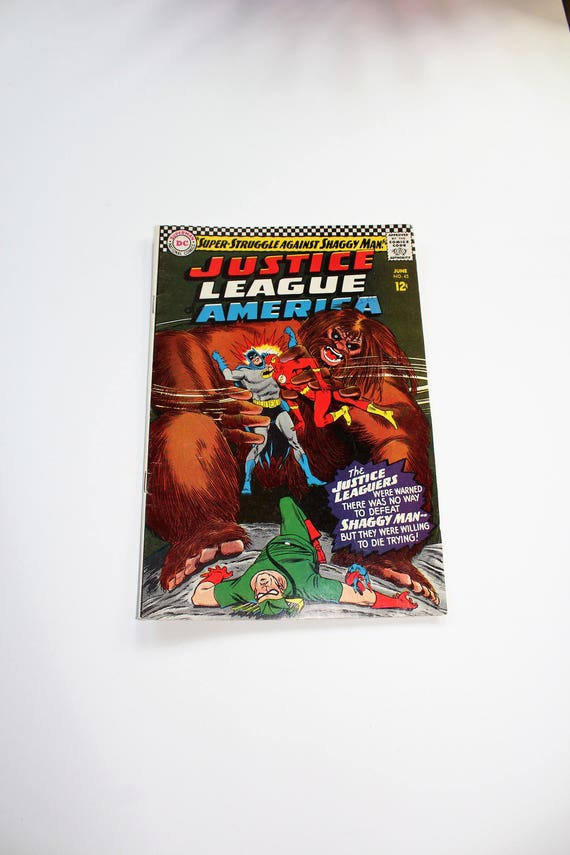 Comic Book Justice League of America DC Comics Giant #45 June 1966 Silver Age