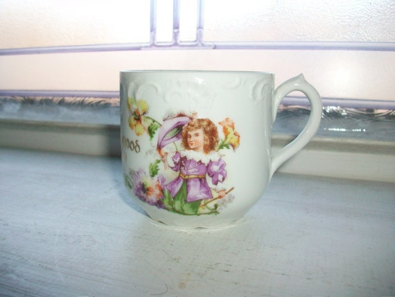 Victorian Child's Cup Circa Early 1900s Antique Baby Cup