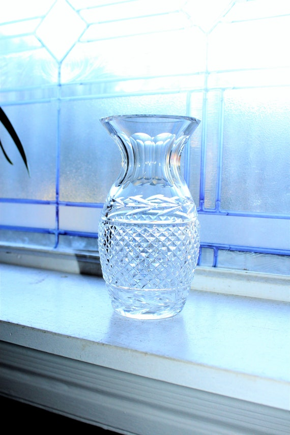 """Waterford Crystal Glandore Vase 7"""" with Flared Top"""