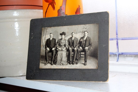Antique Cabinet Card Photograph Victorian Group