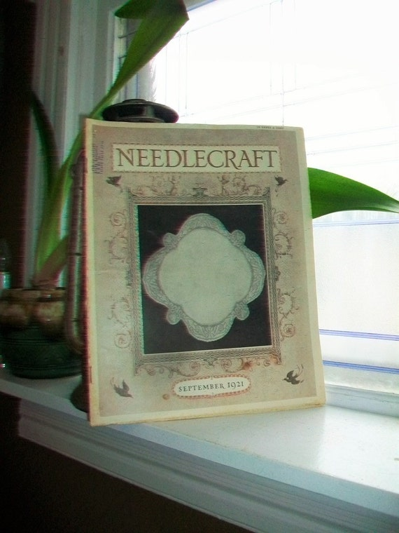 1921 Needlecraft Magazine September Issue with Large Cream Of Wheat Ad Vintage 1920s Sewing