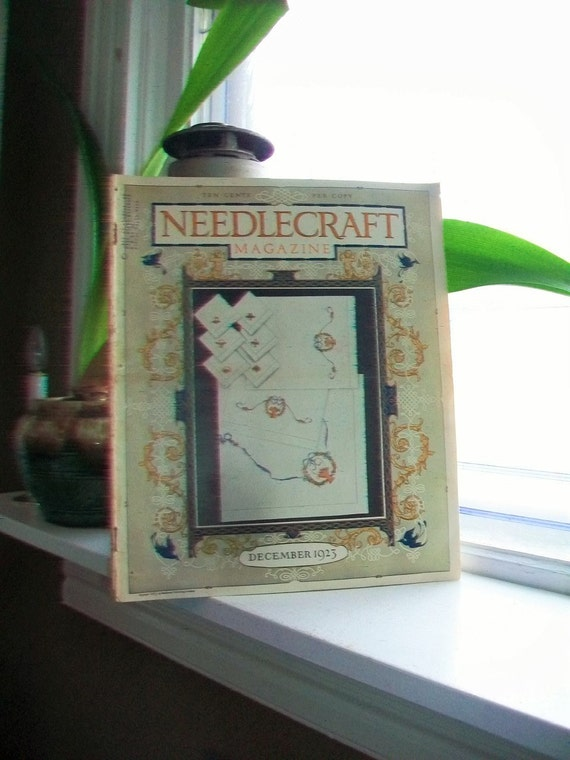 1923 Needlecraft Magazine December Issue with Great Cream Of Wheat Ad Vintage 1910s Sewing