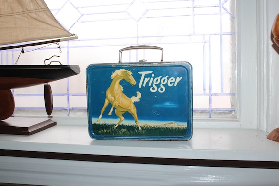Vintage Roy Rogers' Trigger Lunch Box 1950s Americ