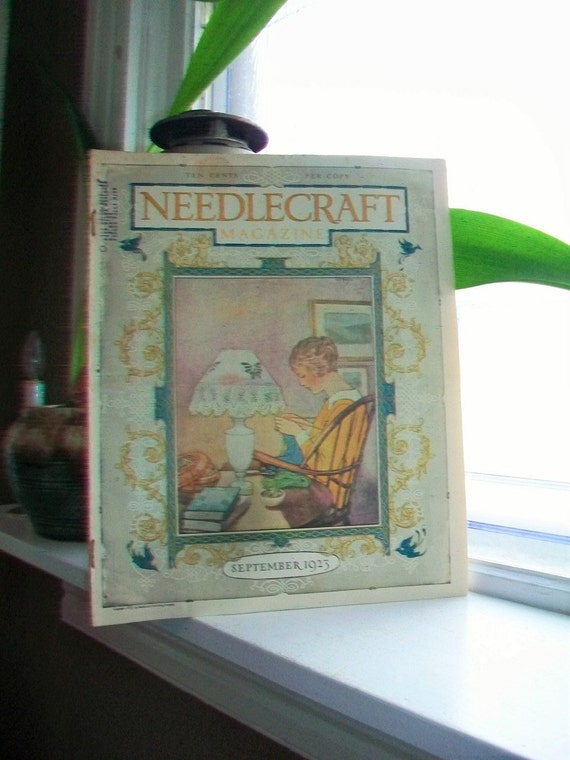 1923 Needlecraft Magazine September Issue with Great Cream Of Wheat Ad Vintage 1910s Sewing