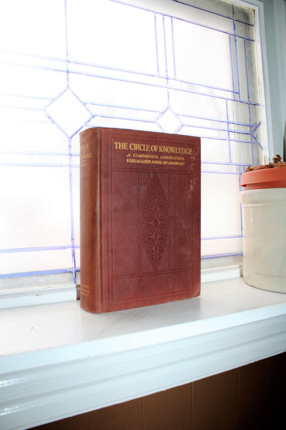 Antique 1917 Steampunk Book of Answers The Circle of Knowledge