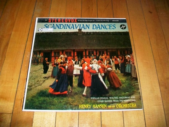 Scandinavian Dances Record Album Henry Hansen and Orchestra Vintage 1960 STVX 426 220