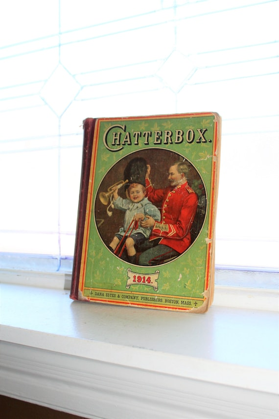 Antique Children's Book Chatterbox 1914