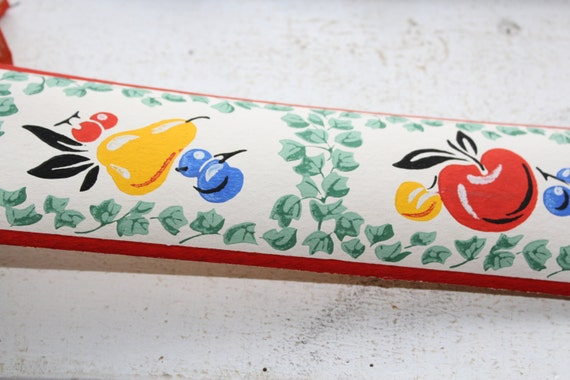 Vintage 1950s Wallpaper Border Fruit Arbor Dex Brand Unused Wall Paper
