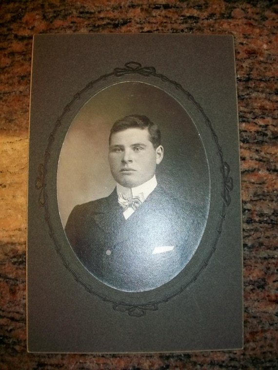 Vintage Victorian Photograph of a Well Dressed Young Man Cabinet Card