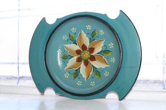 Vintage Norwegian Rosemaling Wood Bowl Scandinavian Nordic Folk Art