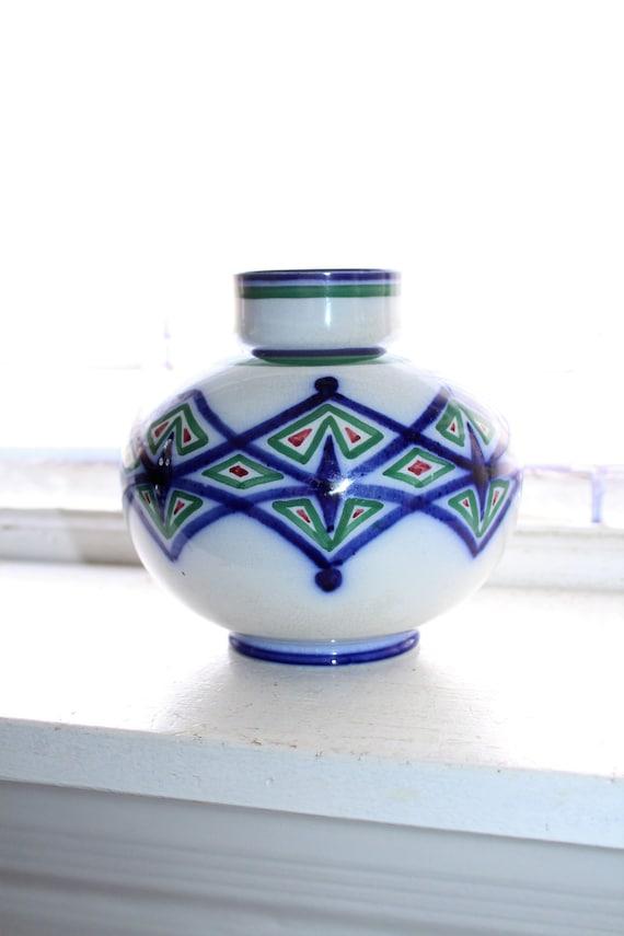 Gustafsberg Pottery Vase by Josef Ekberg Slip Decorated Antique 1906