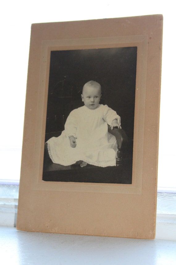 Victorian Baby Cabinet Card Photograph Antique 1800s Photo