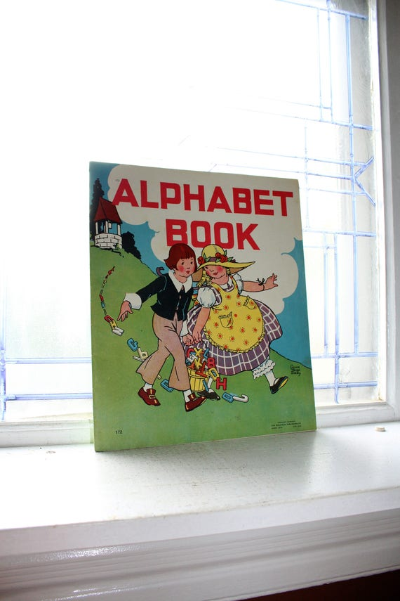 Large Children's Alphabet Book Vintage 1934 by Corinne Ringel Bailey
