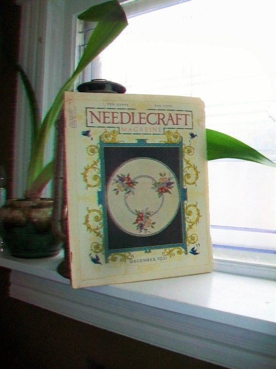 1921 Needlecraft Magazine December Issue with Large Cream Of Wheat Ad Vintage 1920s Sewing