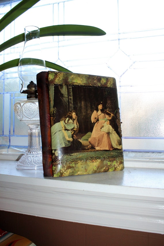 Antique Photo Album for Cabinet Cards & Tin Type Photographs 1800s