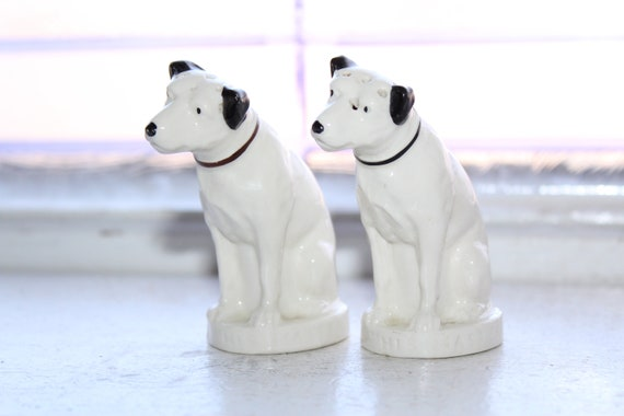 Vintage Nipper Dogs Salt and Pepper Shakers 1930s RCA Victor