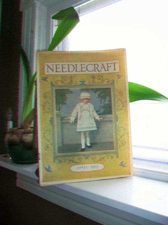 1919 Needlecraft Magazine April Issue with Great Cream Of Wheat Ad Vintage 1910s Sewing