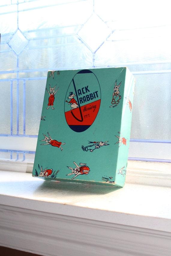 Vintage Jack Rabbit Hosiery Box Country Store Display