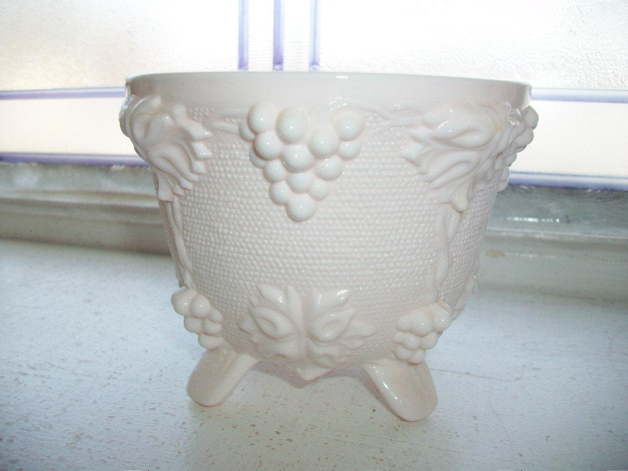Vintage Pink Milk Glass Candy Dish