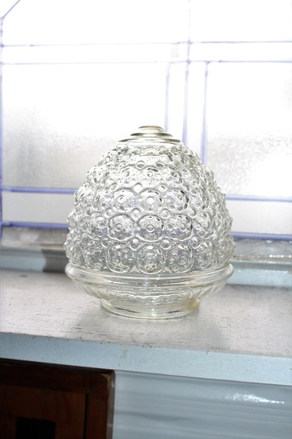 Art Deco Light Shade Clear Glass Torchiere Vintage 1930s