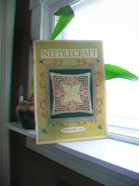 1919 Needlecraft Magazine March Issue with Great Cream Of Wheat and Jello Ads Vintage 1910s Sewing