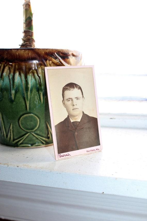 Antique Carte De Visite CDV Photograph Young Victorian Man 1800s