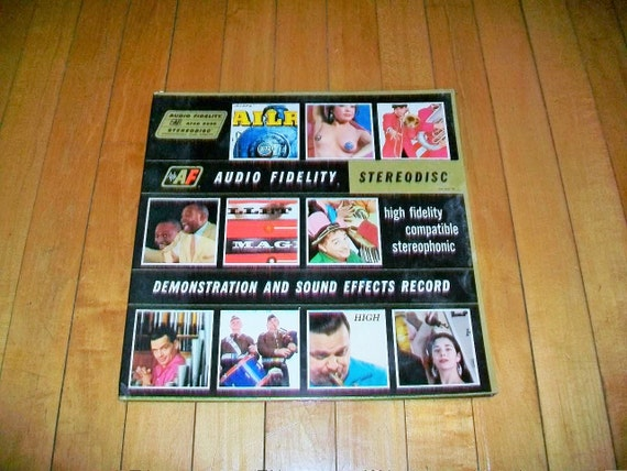 1959 Stereophonic Demonstration and Sound Effects Vinyl Record Album AFSD 5890