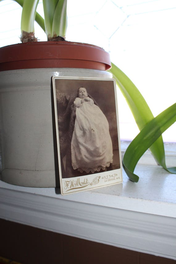 Antique Cabinet Card Photograph Victorian Baby