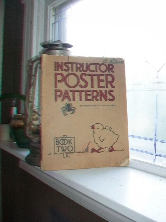 Large Instructor Poster Patterns Book by Bess Bruce Cleaveland Vintage 1926
