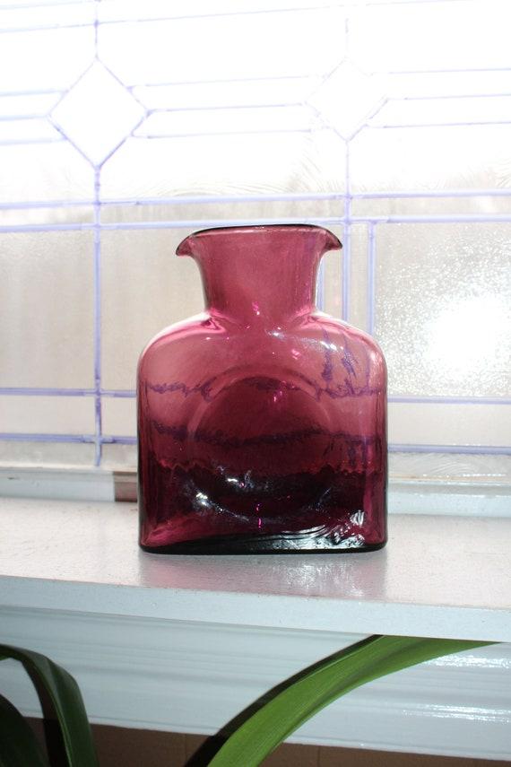 Vintage Blenko Pale Orchid Purple Carafe Double Spout