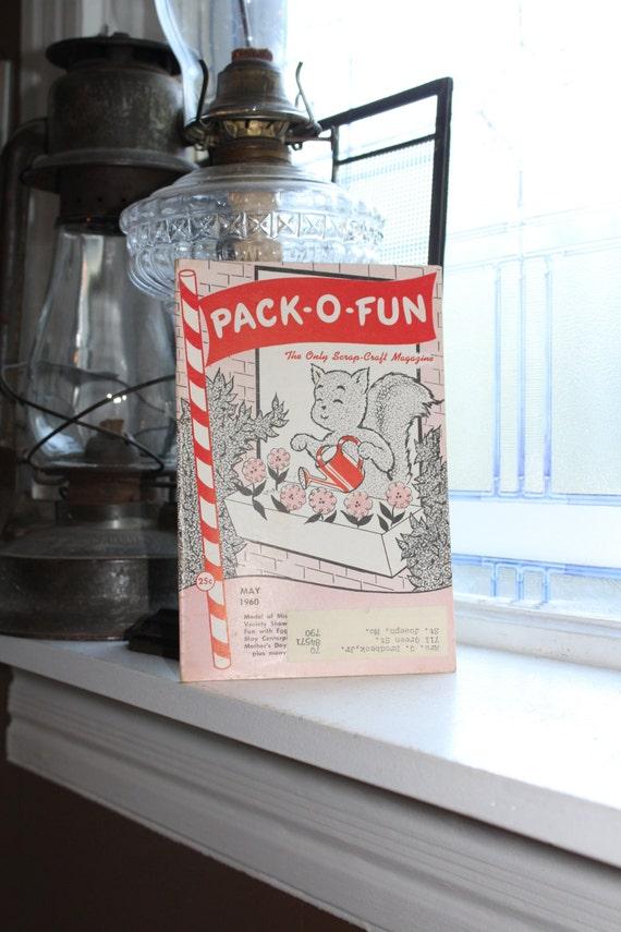 Vintage 1960s Pack-O-Fun Crafts Book Scrap Craft Magazine May 1960