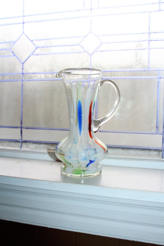 Vintage Mid Century End Of Day Glass Martini Pitcher Retro Barware