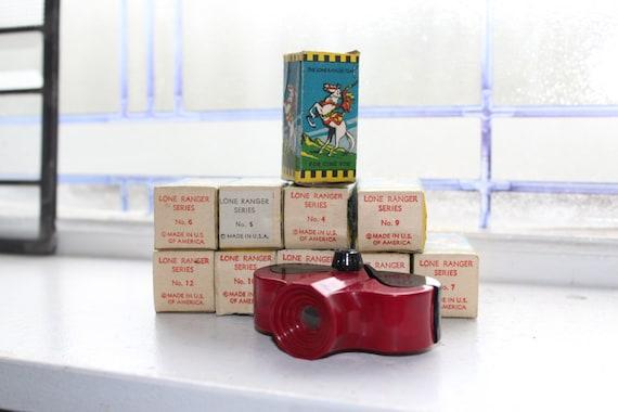 Vintage Cine Vue Toy Viewer with 10 Lone Ranger Films