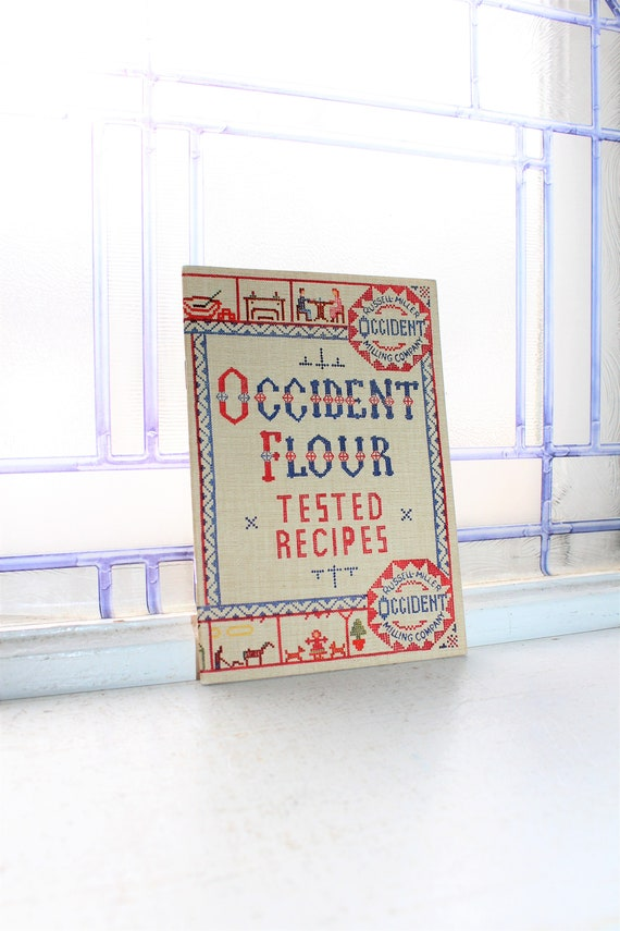 Vintage Occident Flour Tested Recipes Cook Book 1940s