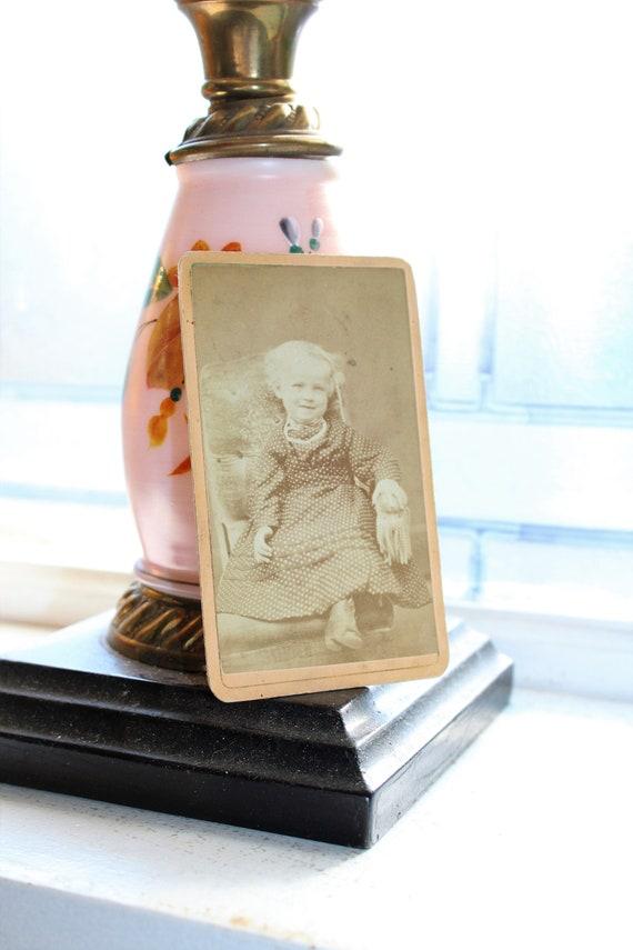Vintage Carte De Visite Photograph Victorian Girl 1800s