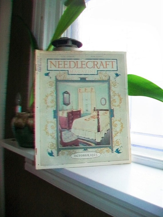 1923 Needlecraft Magazine of Home Arts October Issue Vintage 1920s Sewing
