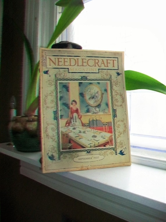 1927 Needlecraft Magazine of Home Arts September Issue Vintage Sewing 1920s
