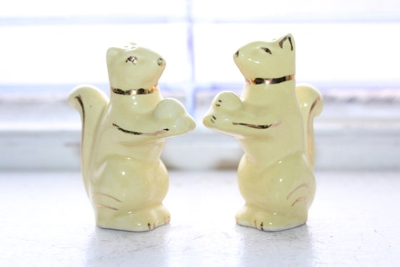 Vintage Squirrels Salt and Pepper Shakers