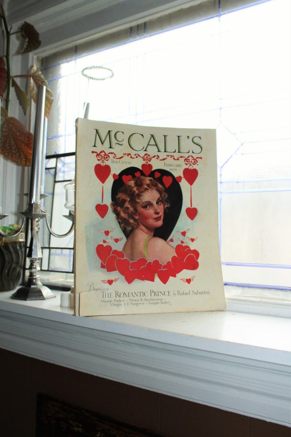 1929 McCall's Magazine February Issue Vintage Art Deco Fashion and Advertising