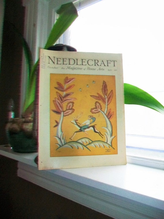 1931 Needlecraft Magazine of Home Arts October Issue Vintage 1930s Sewing