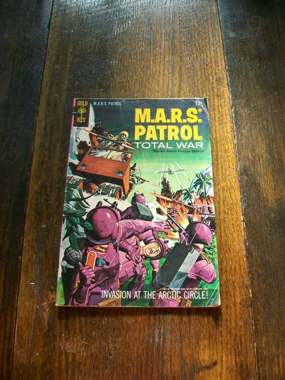 MARS Patrol 1967 Comic Book Number 4 Sci Fi Science Fiction