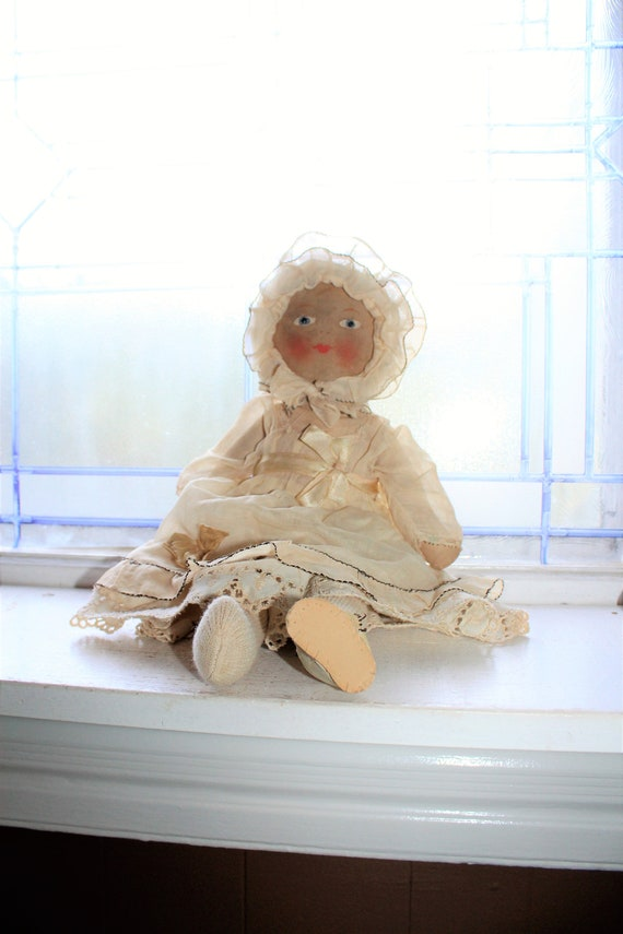 Vintage Cloth Baby Doll 1920s